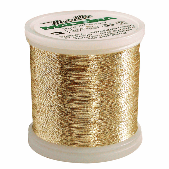 Madeira Metallic Thread No 40 - 200m - Gold 3