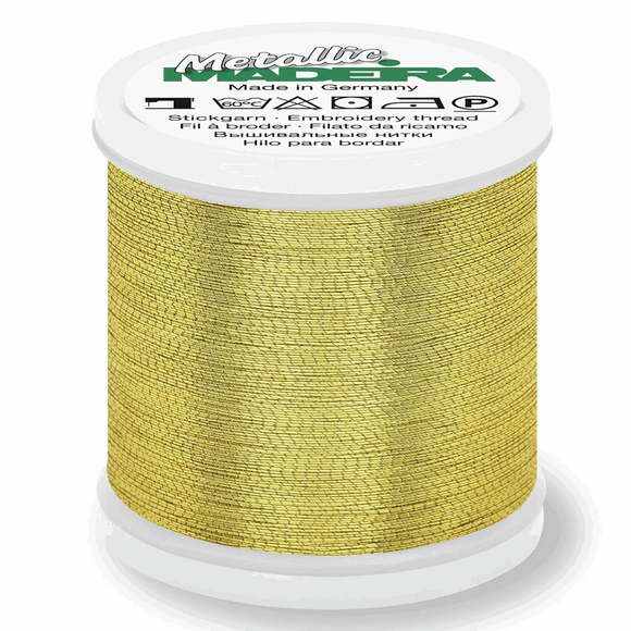 Madeira Metallic Thread No 40 - 200m - Gold 4