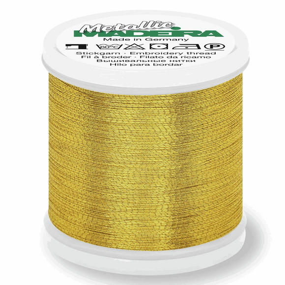 Madeira Metallic Thread No 40 - 200m - Gold 8