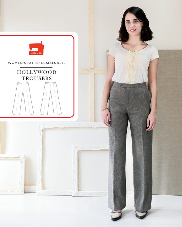 Hollywood Trousers Pattern by Liesl & Co