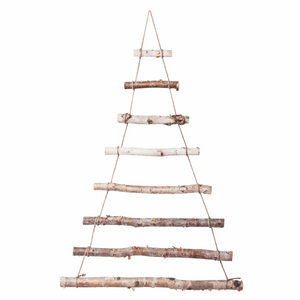 Wall Hanging Christmas Tree in Birch