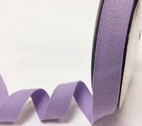 Twill Tape 100% Cotton 25mm Lilac
