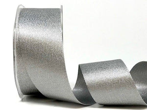 Ribbon Satin 38mm in Dark Silver Sparkle