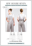 Burnside Bibs Dungarees Pattern by Sew House Seven