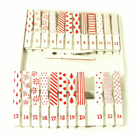 Advent Calendar Pegs