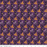Fab-BOO-lous Witches on Purple by Riley Blake