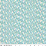 Sew Retro Leaves in Blue by Riley Blake