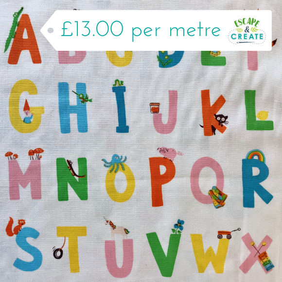 Kinder Alphabet 100% Cotton by Windham Fabrcis