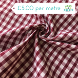 "100% Cotton 1/4"" Wine Gingham"