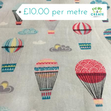 Up Up and Away Hot Air Balloons 100% Cotton