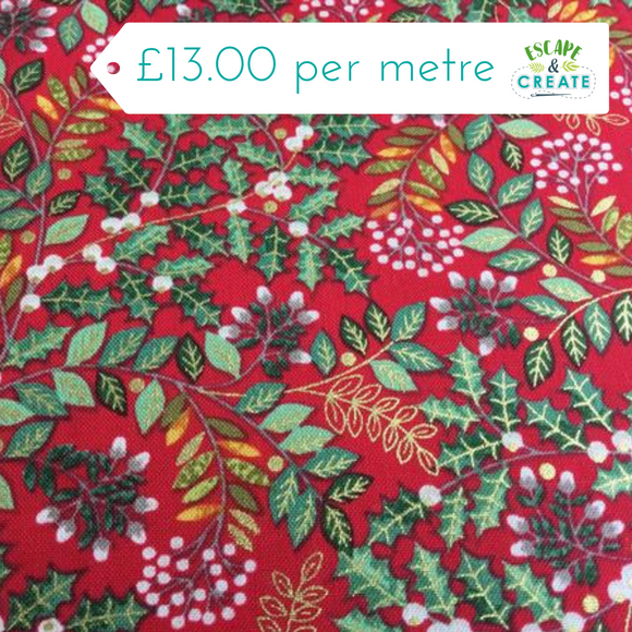 Now £10.40 p/m Leaf Swirl Red by Makower