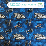 star wars millennium falcon licensed fabric at escape and create
