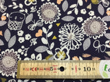 Autumn Rain Small Flowers Blue by Dashwood Studios 100% Cotton