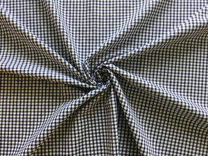 "Gingham 1/8"" 100% Cotton In Navy"
