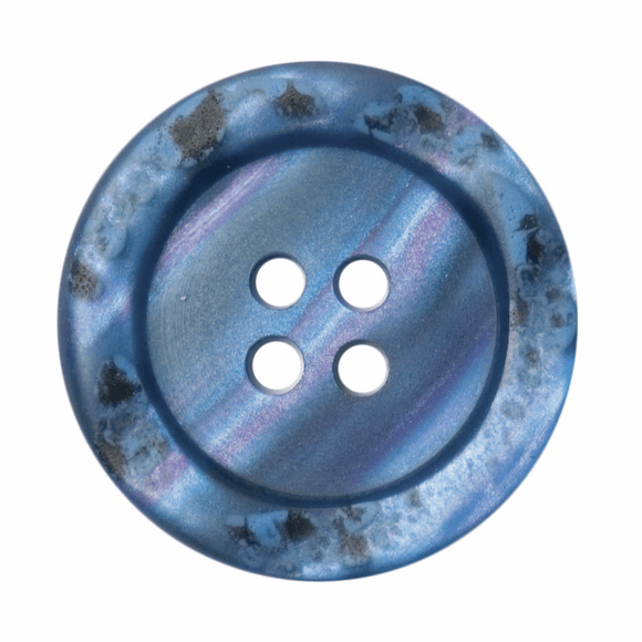 Button 4 Hole 23mm Round Blue