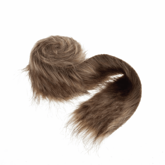 Trim Faux Fur 80mm wide x 2m in Brown
