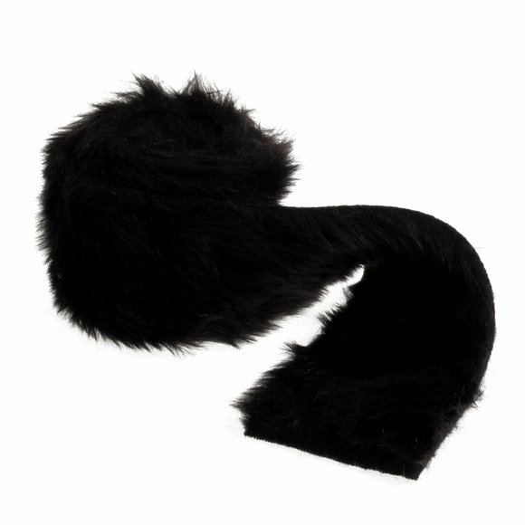 Trim Faux Fur 80mm wide x 2m in Black
