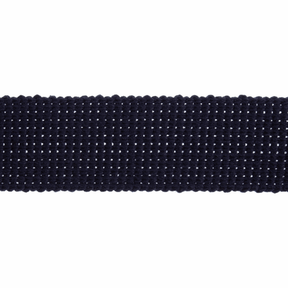 Cotton Acrylic Webbing Tape 40mm in Navy Blue