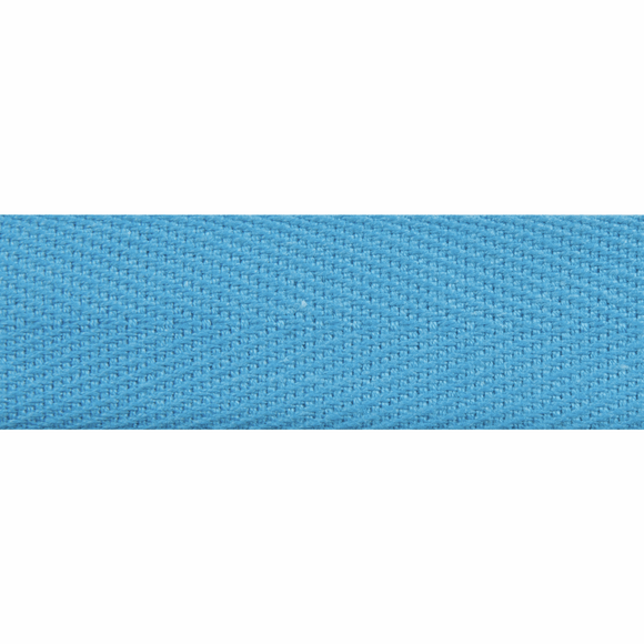Herringbone Webbing Tape 20mm in Mid Blue