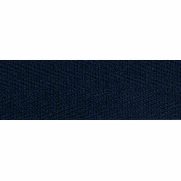 Herringbone Webbing Tape 20mm in Navy Blue