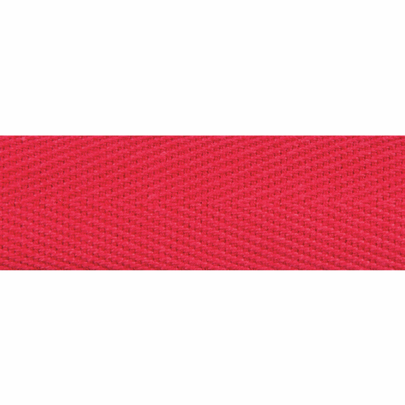 Herringbone Webbing Tape 20mm in Red