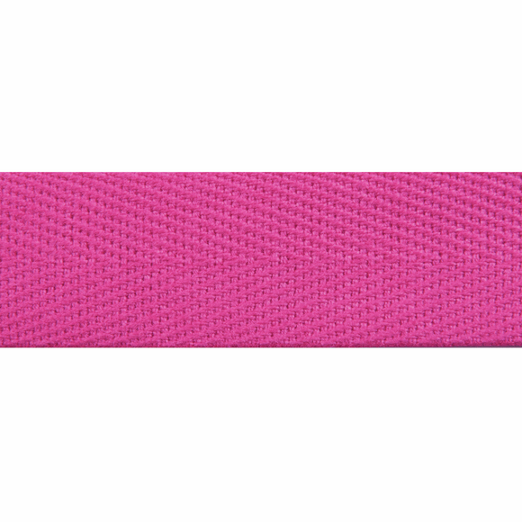 Herringbone Webbing Tape 20mm in Fuschia