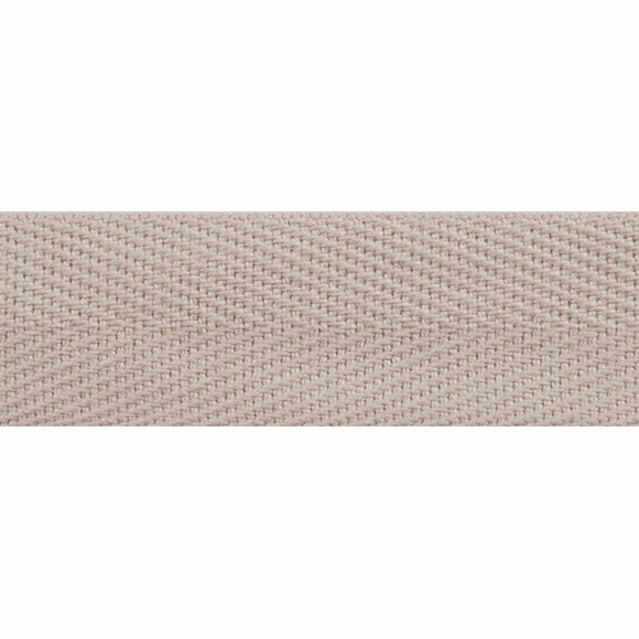 Herringbone Webbing Tape 20mm in Beige