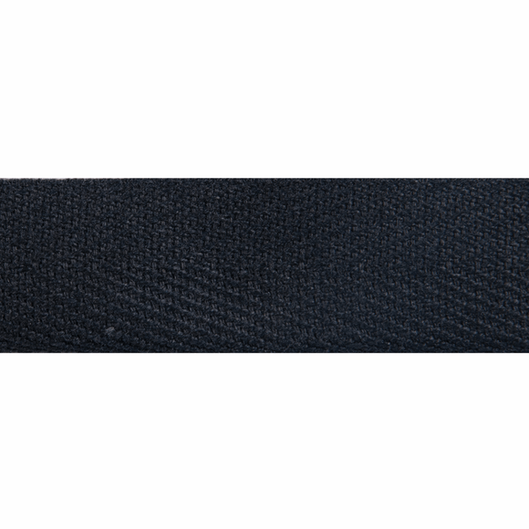 Herringbone Webbing Tape 20mm in Black
