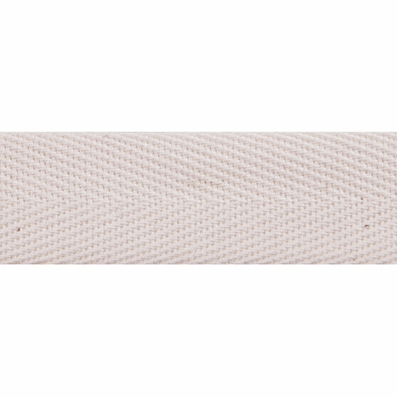 Herringbone Webbing Tape 20mm in Natural