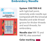 Embroidery Needle Assorted 5 pack 75/11-90/14