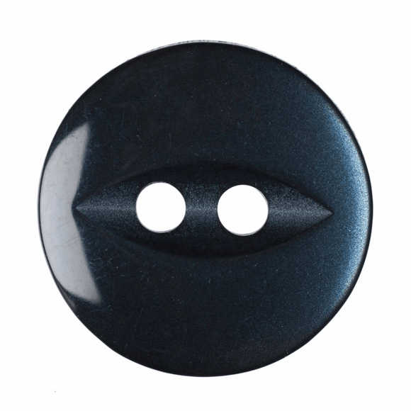Button Fish Eye Round 19mm in Navy