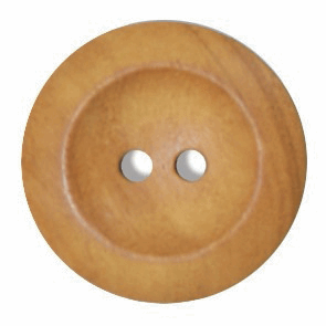 Button 2 Hole 25mm Olive Wood