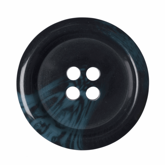 Button Variegated 4 Hole 25mm Round Navy