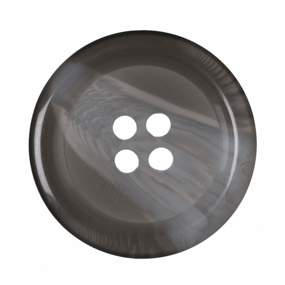 Button Variegated 4 Hole 25mm Round Grey