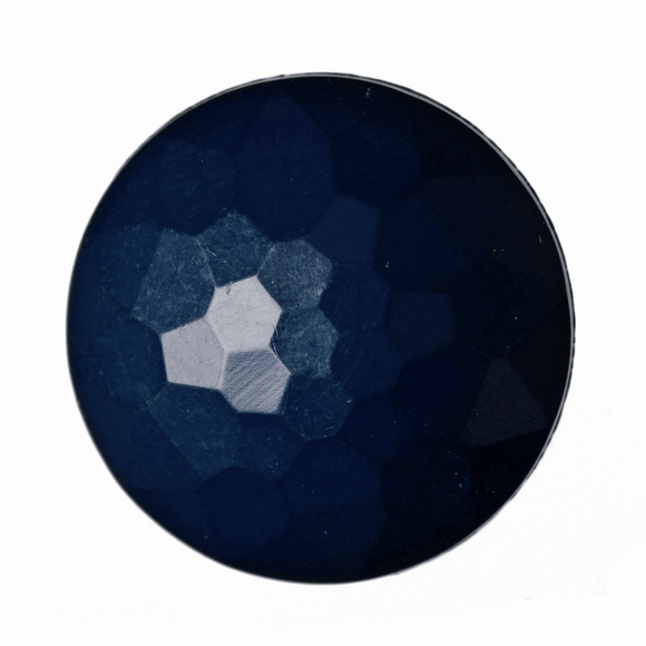 Button Faceted Shank 11mm in Navy