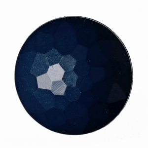 Button Faceted Shank 20mm in Navy