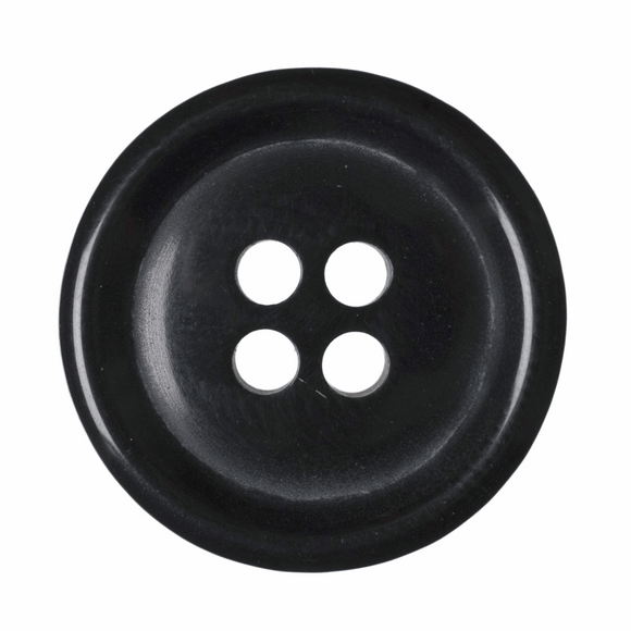 Jacket Button 4 Hole 19mm Black
