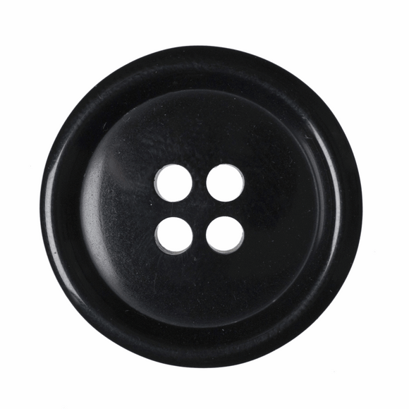 Button Jacket 4 Hole 23mm Black
