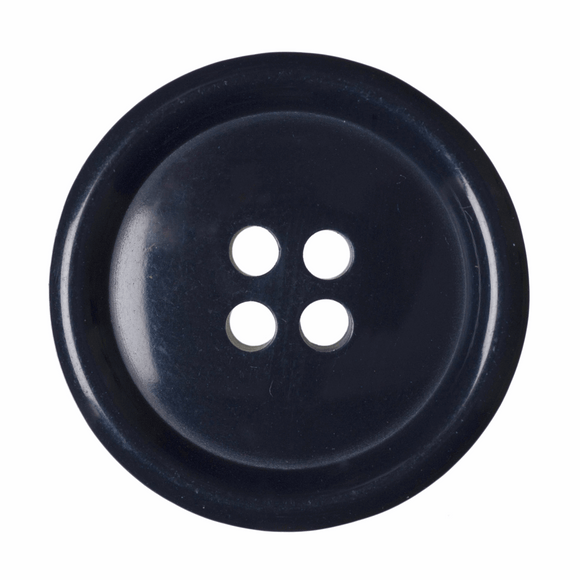 Button Jacket 4 Hole 25mm Round Navy