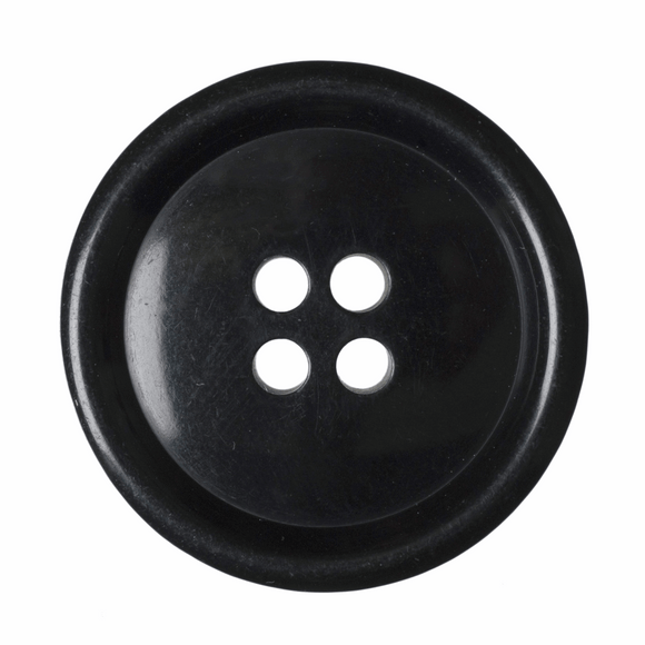 Button Jacket 4 Hole 25mm Black