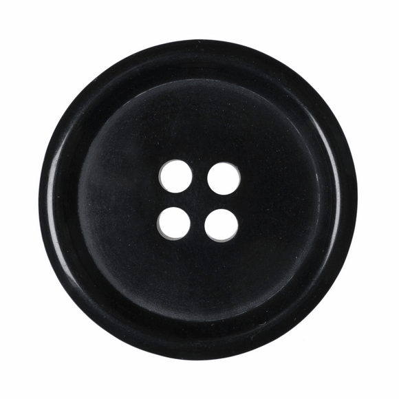 Button Jacket 4 Hole 28mm in Black