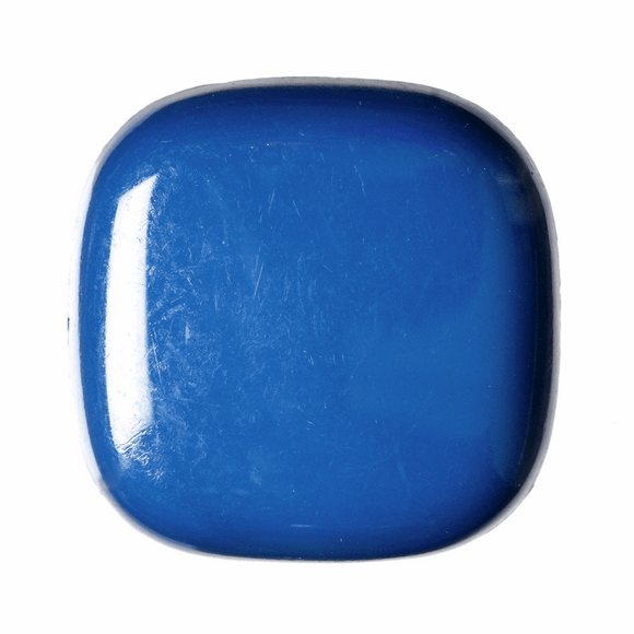Button Shiny Shank 28mm Square Navy Blue