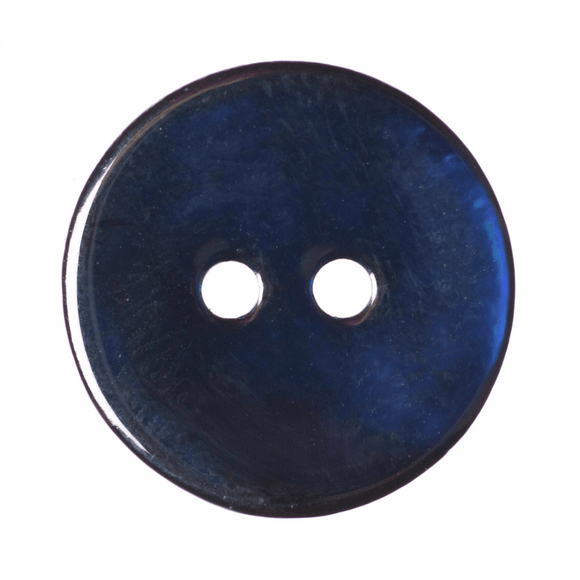 Button Dyed Agoya Shell 15mm in Navy