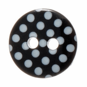 Spotty Button 12mm Black/White (20 lignes)