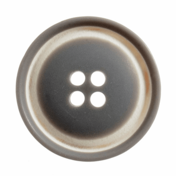 Button Raised Rim 23mm in Grey