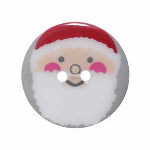 Button 23mm Christmas Santa