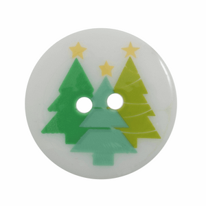 Button 23mm Christmas Trees