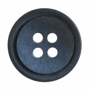 Button Ombre Rimmed Round 20mm in Navy