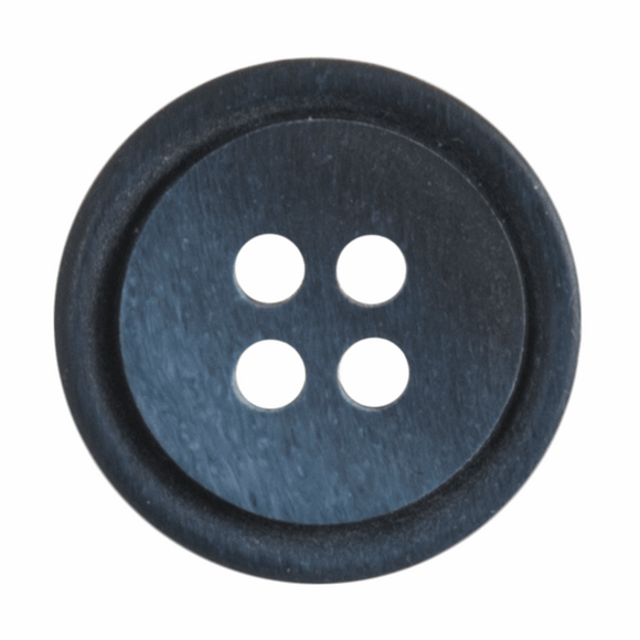 Button Ombre Rimmed 15mm Round Navy