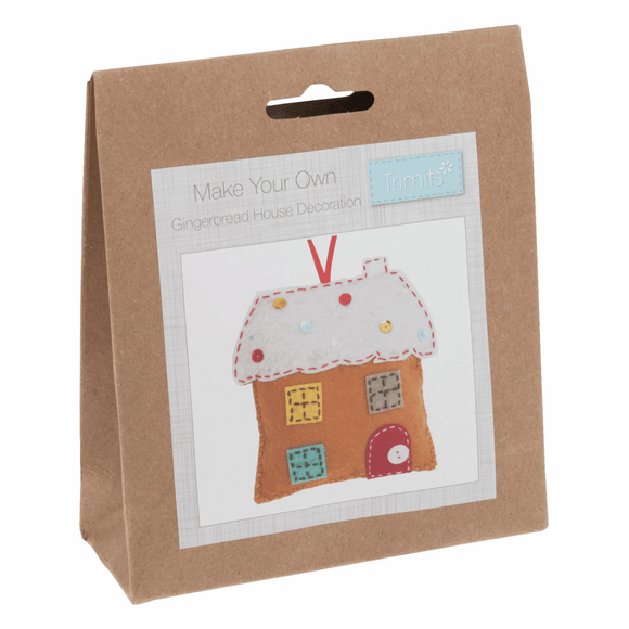 Felt Sewing Kit - Christmas Tree Decoration - Gingerbread House